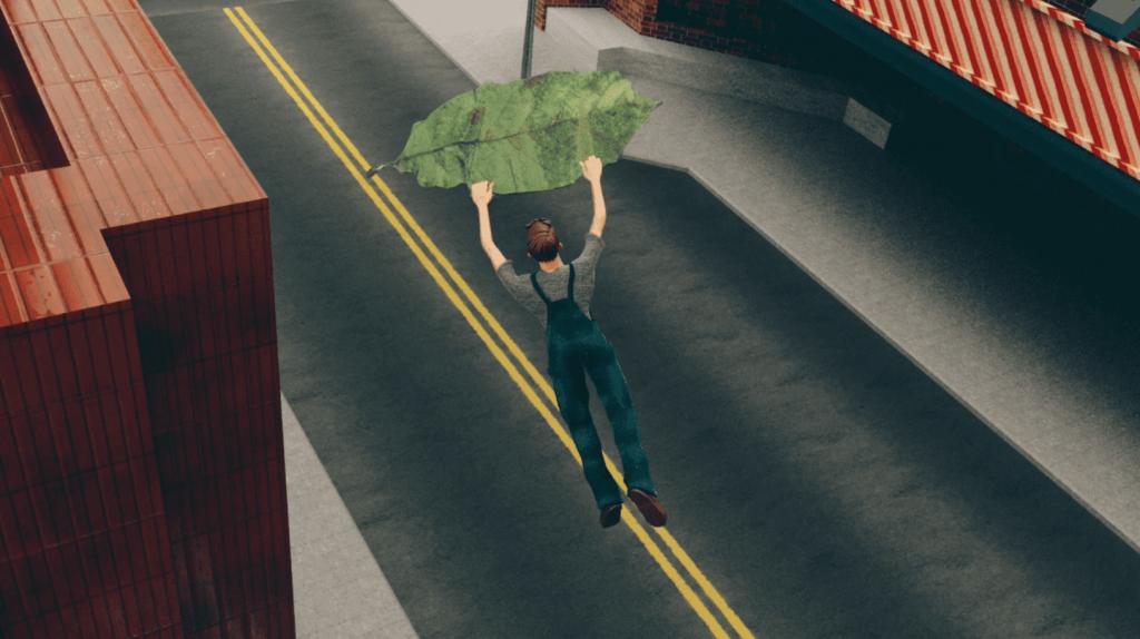 A deslizar numa folha