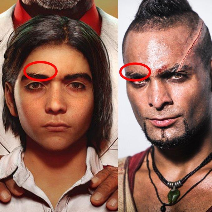 Semelhanças entre Diego e Vaas
