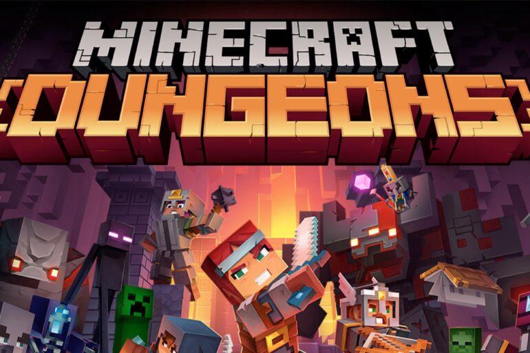 Destaque de Minecraft Dungeons
